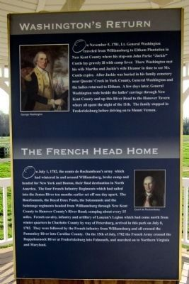 Washington's Return & The French Head Home (side 4) image. Click for full size.
