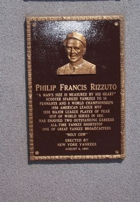 Philip Francis Rizzuto Marker image. Click for full size.