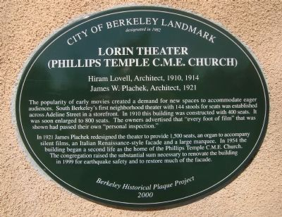 Lorin Theater Marker image. Click for full size.
