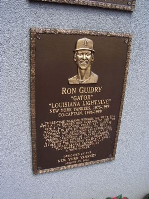 Ron Guidry Marker image. Click for full size.