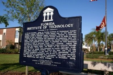 Florida Institute of Technology Marker image. Click for full size.