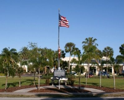 Florida Tech Marker Landscaping image. Click for full size.