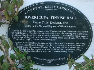 Toveri Tupa – Finnish Hall Marker image. Click for full size.