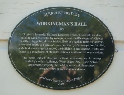 Workingman's Hall Marker image. Click for full size.
