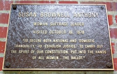 Ohio University's Susan B Anthony Marker image. Click for full size.
