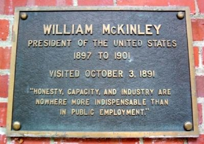 Ohio University's William McKinley Marker image. Click for full size.
