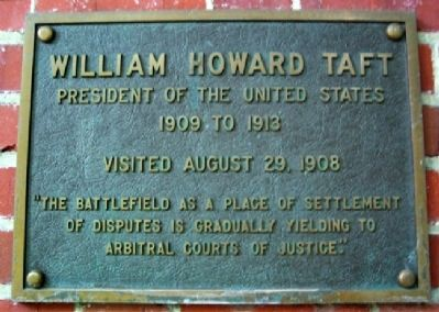 Ohio University's William Howard Taft Marker image. Click for full size.