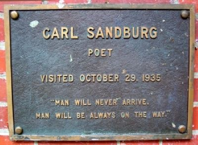 Ohio University's Carl Sandburg Marker image. Click for full size.