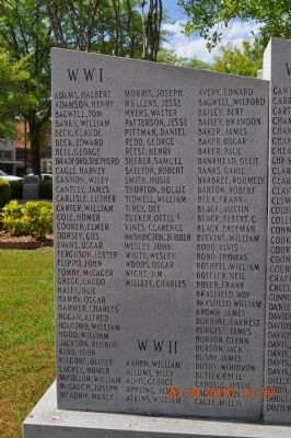 War Memorial Walker County Marker image. Click for full size.