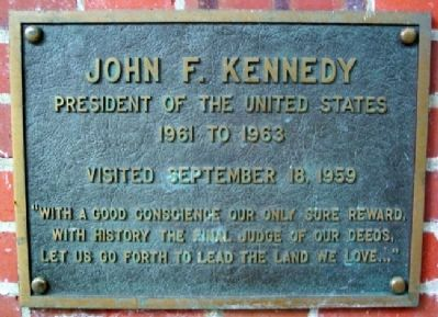Ohio University's John F. Kennedy Marker image. Click for full size.