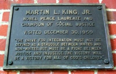 Ohio University's Martin L. King, Jr. Marker image. Click for full size.
