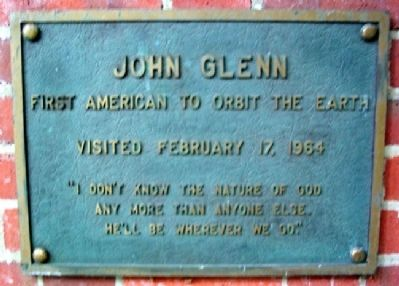 Ohio University's John Glenn Marker image. Click for full size.