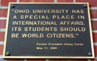 Ohio University's Jimmy Carter Marker image. Click for full size.