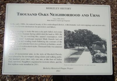 Thousand Oaks Neighborhood and Urns Marker image. Click for full size.