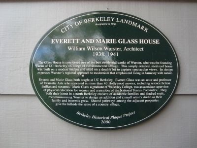 Everett and Marie Glass House Marker image. Click for full size.