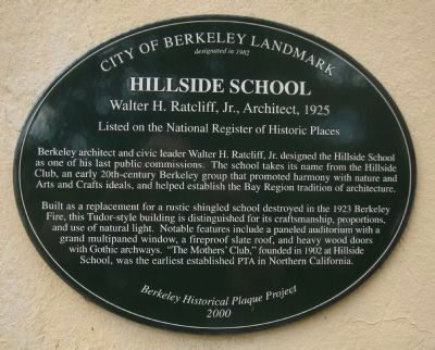 Hillside School Marker image. Click for full size.