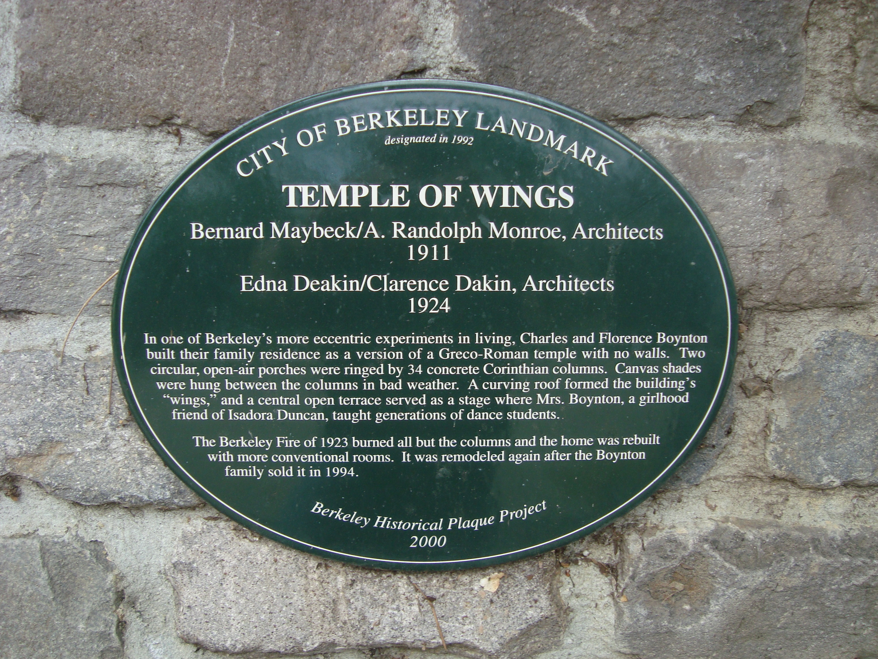 Temple of Wings Marker