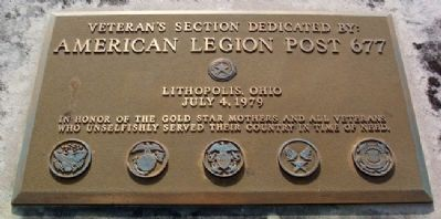 Franklin Hills Cemetery Veterans Section Marker image. Click for full size.