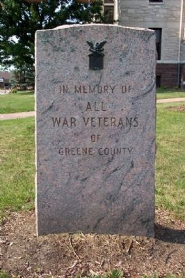 Greene County War Memorial image. Click for full size.