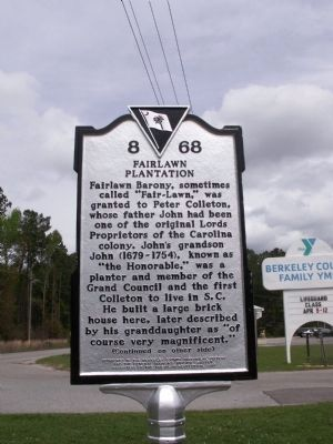 Fairlawn Plantation Marker image. Click for full size.