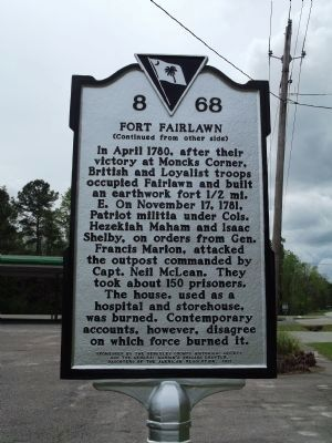 Fort Fairlawn Marker image. Click for full size.