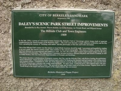 Daley's Scenic Park Street Improvenents Marker image. Click for full size.