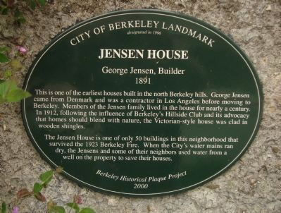 Jensen House Marker image. Click for full size.