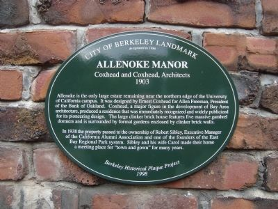 Allenoke Manor Marker image. Click for full size.