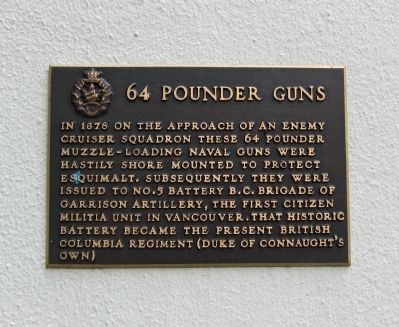 64 Pounder Guns Marker image. Click for full size.