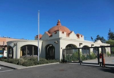 Santa Fe Railway Depot - full view image. Click for full size.