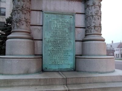 Left Side Plaque - - St. Joseph County Civil War Monument Marker image. Click for full size.