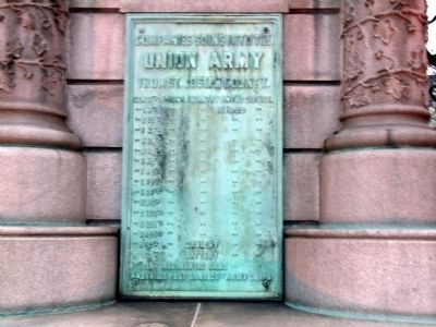 Right Side Plaque - - St. Joseph County Civil War Monument Marker image. Click for full size.