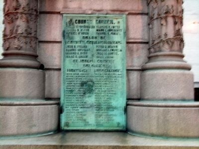 Obverse Side Plaque - - St. Joseph County Civil War Monument Marker image. Click for full size.