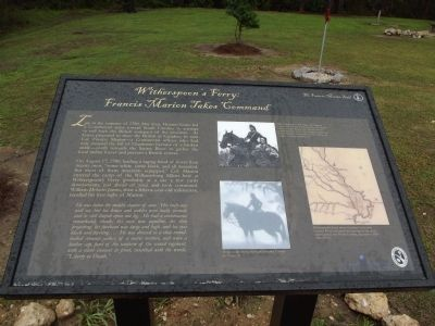 Witherspoon's Ferry: Francis Marion Takes Command Marker image. Click for full size.
