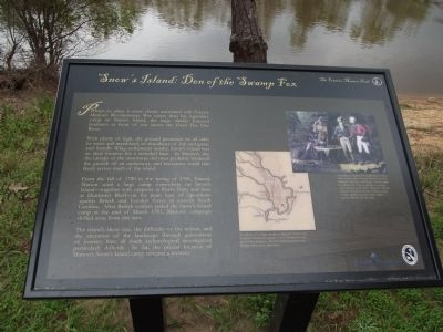 Snow's Island: Den of the Swamp Fox Marker image. Click for full size.