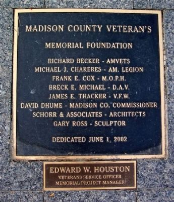 Madison County Veterans' War Memorial Foundation Marker image. Click for full size.