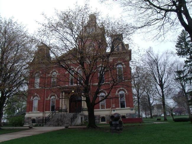 LaGrange County Courthouse -and- American Revolution Memorial Marker image. Click for full size.