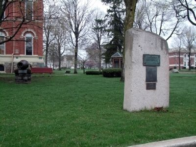 Other View - - Commemorating LaGrange Centennial 1836 - 1936 Marker image. Click for full size.
