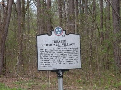 Tenasee Cherokee Village Marker image. Click for full size.