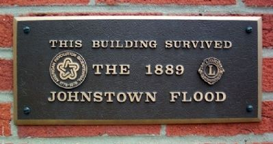 Cambria Iron Company Office Flood Survivor Marker image. Click for full size.
