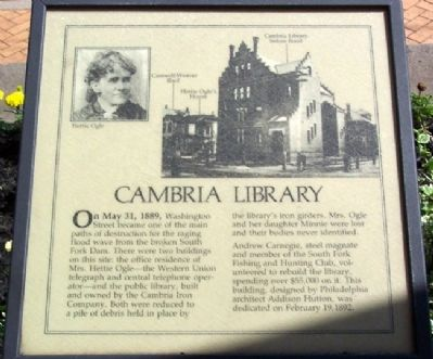 Cambria Library Marker image. Click for full size.