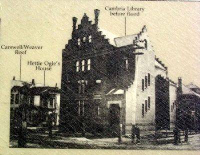 Cambria Library Photo on Marker image. Click for full size.
