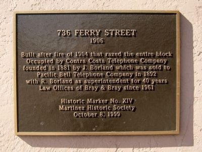 736 Ferry Street Marker image. Click for full size.