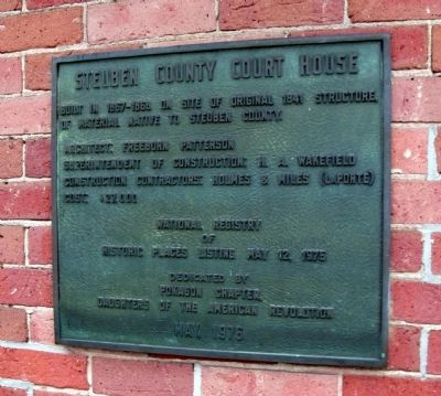 Steuben County Court House Marker image. Click for full size.