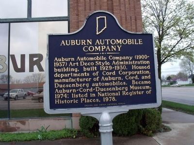 Auburn Automobile Company Marker image. Click for full size.