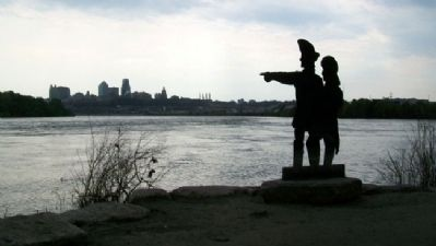 Lewis and Clark at Kaw Point image. Click for full size.