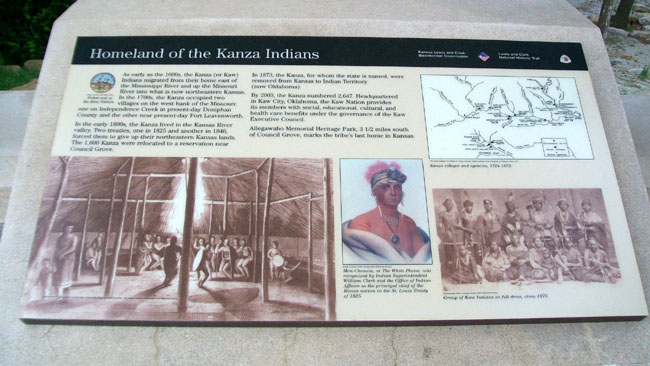 Homeland of the Kanza Indians Marker