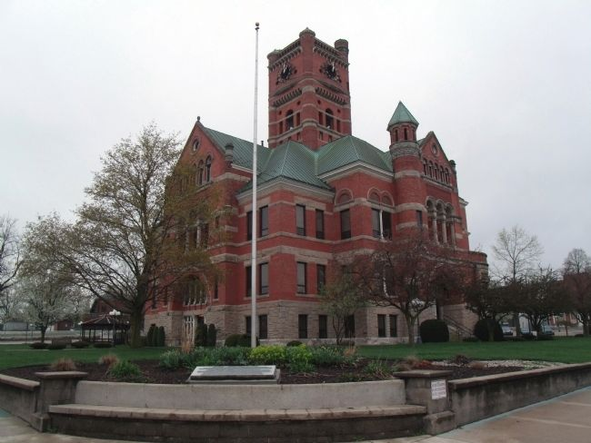 Noble County Courthouse -and- Marker image, Touch for more information