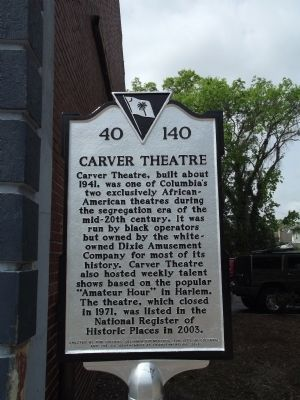 Carver Theatre Marker image. Click for full size.