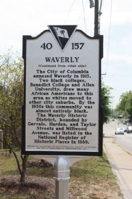 Waverly Marker, rear text image. Click for full size.